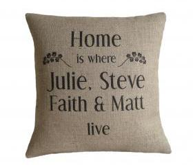 Personalised 'Home Is Where We Live' Pillow Cover